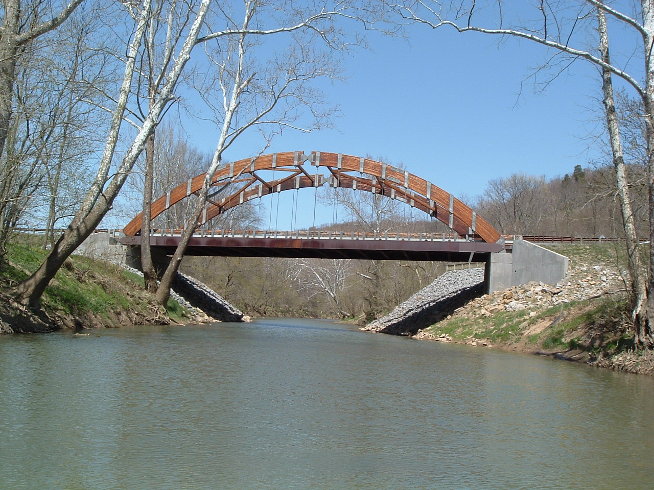 West Buckeye Bridge by Mason-Dixon Historical Park, on Dunkard Creek WV.